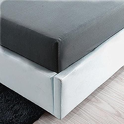 XGguo Protector de colchón/Cubre colchón Acolchado, Ajustable y antiácaros. Sábana Individual Pure Color Todo Incluido-Gris_135x203 + 35cm