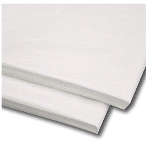 Packitsafe - Papel tisú/papel de seda de 50,8 cm x 76,2 cm, libre de ácidos Color y cantidad de hojas de papel para manualidades, Blanco, 100 Sheets
