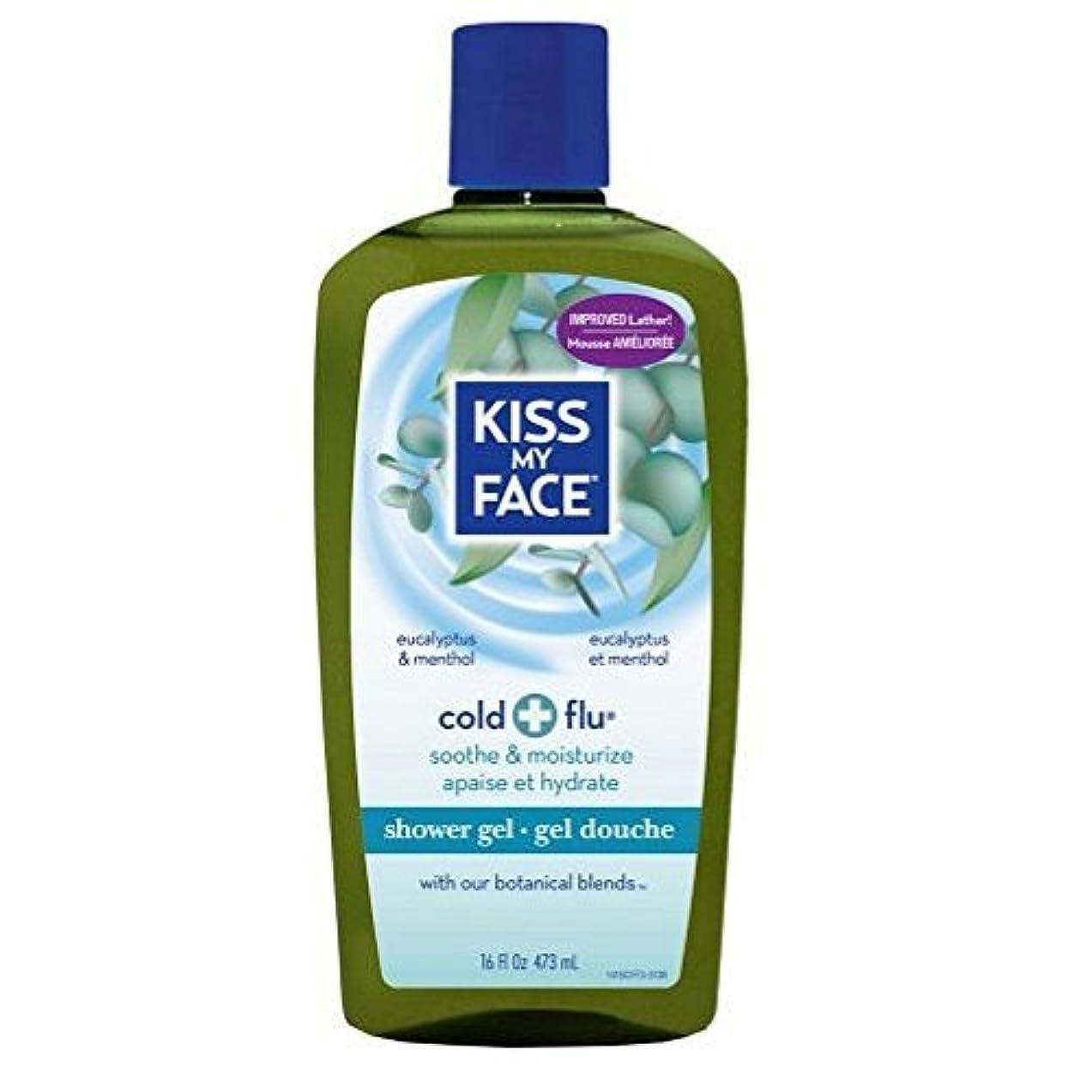 赤外線追放する柔らかい足x Kiss My Face Bath and Shower Gel Cold And Flu Eucalyptus and Menthol - 16 fl oz by Kiss My Face