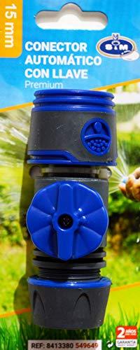 M&M's S & M connecteur Automatique avec clé 15 mm Premium, Noir/Bleu Cobalt
