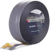 HOLZBRINK zelfklevende zachte plint, donker grijs PVC lamel, 32x23mm, 25 m