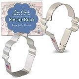 Ann Clark Cookie Cutters Juego de 2 cortadores de galletas dulce tentación con libro de recetas, pastelito y cucurucho de helado
