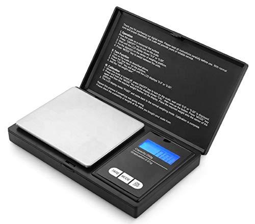 MAMJACK HOME - Báscula de precisión, 200 g/0,01 g, báscula de cocina, báscula de precisión, 0,01 g, báscula de bolsillo con pantalla LCD, pequeña Báscula de joyas con función de tara, acero inoxidable
