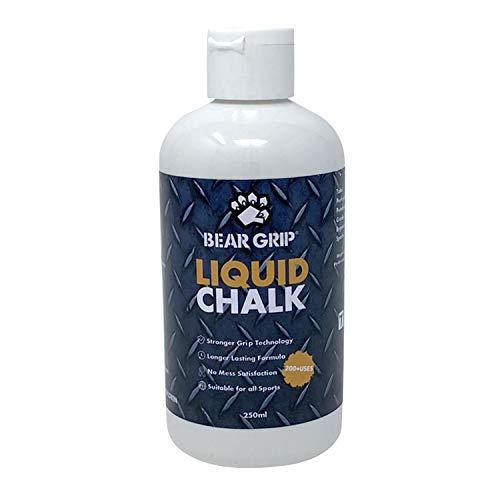 BEAR GRIP - LIQUID CHALK | Tiza deportiva | Manos libres de sudor | Crossfit | Levantamiento de pesas | Levantamiento de pesas | Escalada | Culturismo (250ml)
