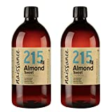 Naissance Sweet Almond Oil (no. 215) 1 Litre (Pack of 2) - Natural, Cruelty Free, Vegan, No GMO