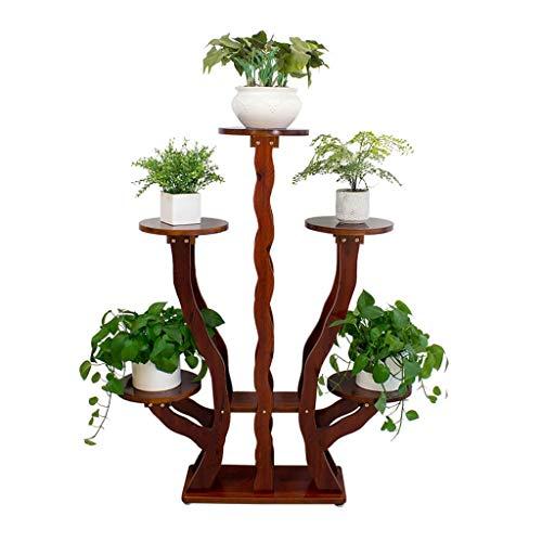 Kiter Plant Stand bloempot houder Plant Stand Massief Hout Bloem Stand Vloer Aan Plafond Binnen Huishoudelijke Pot Rack Woonkamer Tuin Plank Bloemenrek