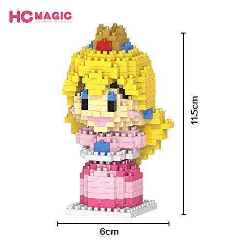 HC Magic Figura Princesa Super Mario Bros Juego Bloques de construccion tamaño 10 - 12 cm DIY Mini Building Puzzle Juguete niños colección