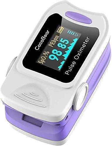 CocoBear Pulsossimetro, Saturimetro da Dito Portatile Professionale, Display Oled per Frequenza Del Polso(PR) e La Saturazione di Ossigeno