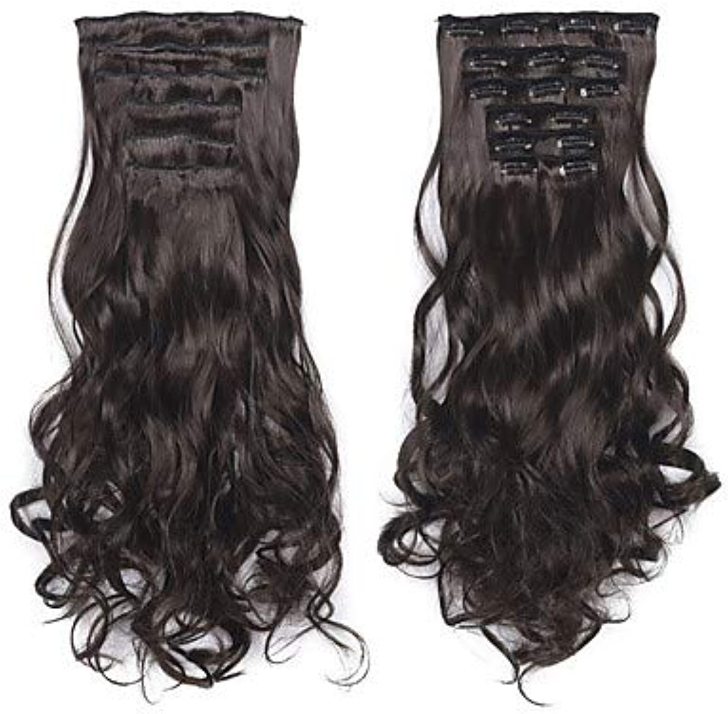 Laflare Extension Synthetic Extentions Wavy Synthetic Hair Medium Length Hair Extension Clip in Clip in On 1 Piece Synthetic Extention Women's Christmas Wedding Halloween
