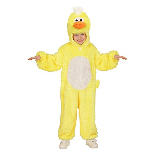 Widmann 98087 - Kinderkostüm Ente aus Plüsch, Overall mit Kapuze und Maske
