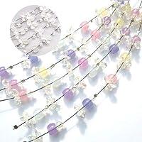 紫外線で色が変わるサンキャッチャーが作れるサンキャチャーフラワーキット*クリスタルのようなホワイトカラーカラーチェンジ ハンドメイド 手芸用 キット (キット1セット)