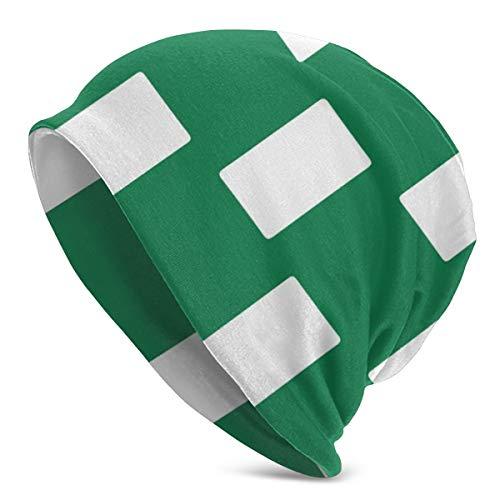Amoyuan Nigeria Vlag Wit Groen Beanie Slouch Winter Schedel Gebreide Fashion Cap voor Mannen Vrouwen