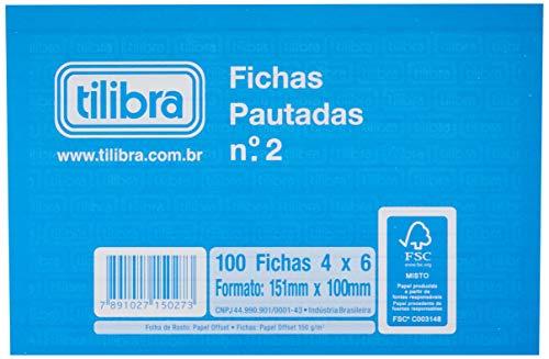 Ficha Pautada Número 2 - 4x6 100 Folhas,Tilibra