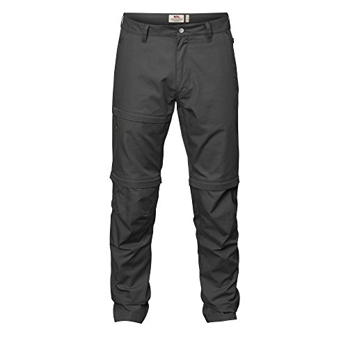 Fjällräven Herren Travellers Zip-off Hose, Dark Grey, 52 (L)
