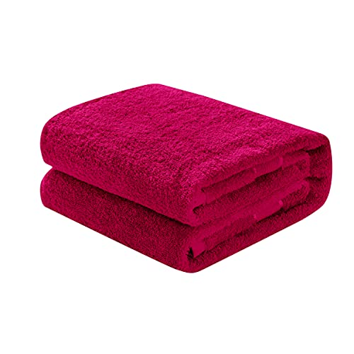 Mixibaby Waschhandschuh, Gästetuch, Handtuch, Duschtuch, Badetuch, Saunatuch aus Frottee, Größe:Saunatuch 80x200cm, Farbe:Weinrot