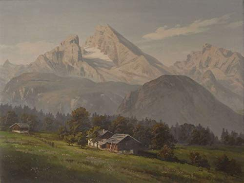 badewannen24 Ölgemälde WATZMANN IM Sommer - Berchtesgaden - Max Nordt