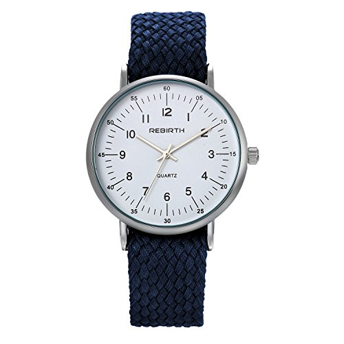 LANCARDO Herren Damen Armbanduhr Analog mit Nylon Armband