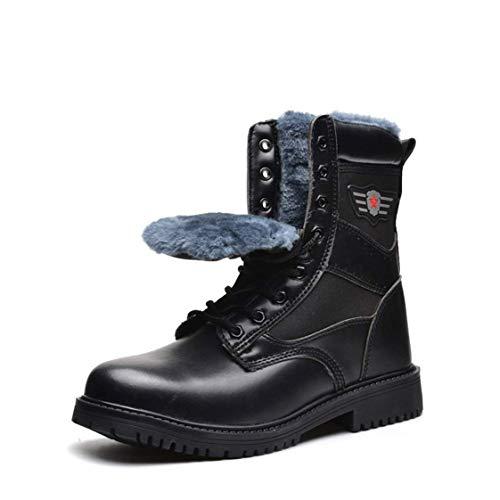 LANMOU Botas de Seguridad Hombre Invierno Impermeable Zapatos de Seguridad para Hombre Antideslizante con Puntera de Acero Zapatillas de Seguridad Mujer Calzado de Industrial y Deportiva,Negro,39 EU