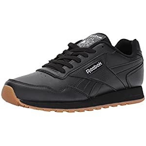 Reebok Men's Classic Leather Harman Run Sneaker, Black/Gum, 8.5