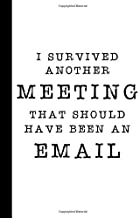 I Survived Another Meeting That Should Have Been An Email: A Funny Gag Gift Office Humor Notebook