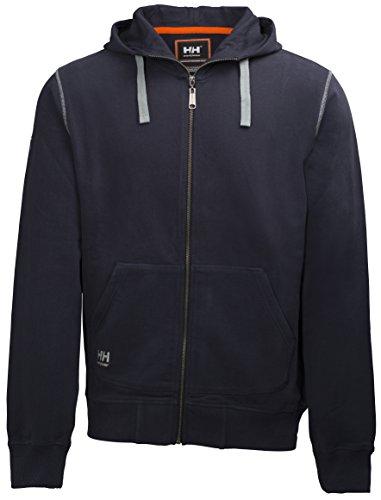 Helly Hansen Workwear Kapuzenpullover Oxford FZ Hoodie Pulli mit Reißverschluss 590, Größe 3XL, marine, 79028