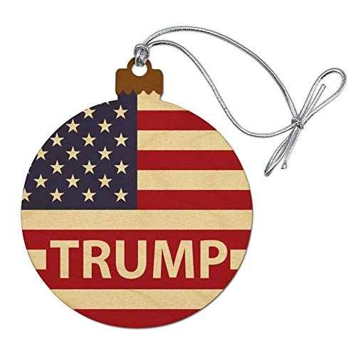 GRAPHICS & MORE President Trump American Flag Wood Christmas Tree Holiday Ornament