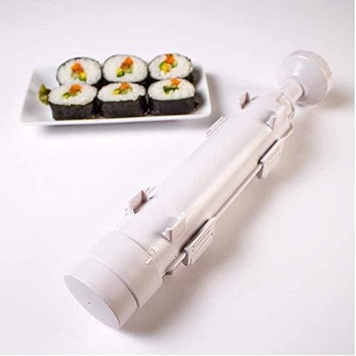 URED Professional Super Space Sushi Bazooka ,Upgrade Sushi Roller Mold Food Grade Plastic, Sushi Maker Rice Vegetable Meat Diy Sushi Making Kit Machinekitchen Utensils White white