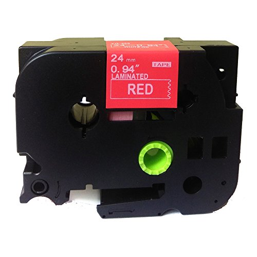 """NEOUZA White on Red Label Tape Compatible for Brother P-Touch TZ TZe 455 TZ-455 TZe-455 P-Touch 24mmx8m 1"""" x26.2'"""