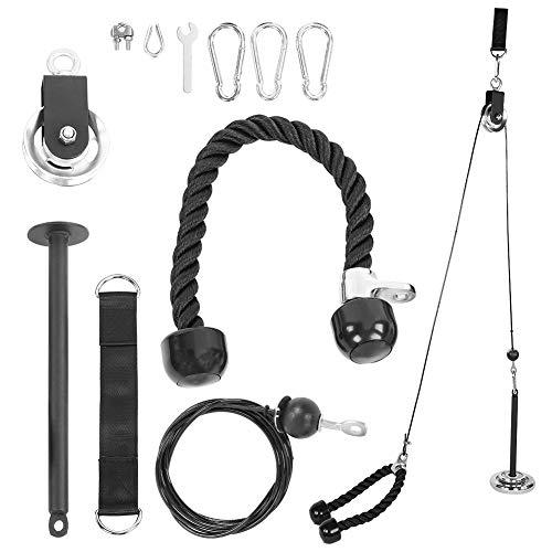 SONK Sistema De Polea De Fitness DIY, con Sistema De Polea De Elevación De Pasador De Carga, para Brazos Y Hombros