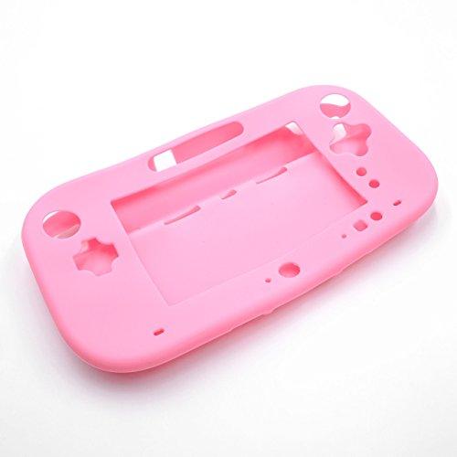 vhbw Hülle, Case Silikon rosa passend für Nintendo Wii U Gamepad Spielkonsole, Controller