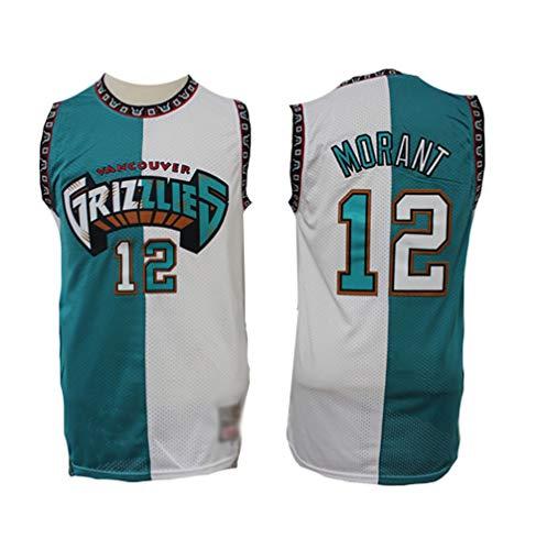 Camiseta de Baloncesto para Hombre-Grizzlies #12 Ja Morant,Fans Ropa de Baloncesto Camisetas Tops,Jersey sin Mangas Bordado para niños-Edición Conmemorativa A-Small