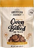 American Journey Grain Free Oven Baked Dog Treats with Peanut Butter (1-8 OZ Bag)