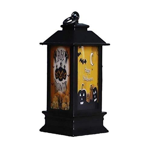 FGVBC Luces de lámpara de Linterna LED de Halloween, pequeñas Luces Creativas de Esqueleto de Calavera de Calabaza, decoración de Interiores y Exteriores para el hogar