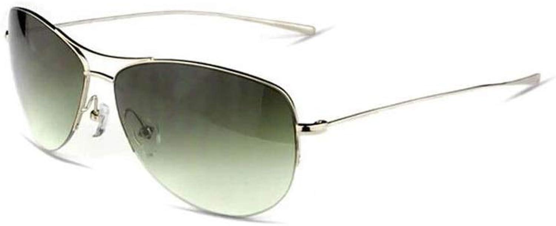 HU-sunglasses Men's Fashion Pure Titanium Half Frame Personality Driving Sports Casual UV Predection Progressive color Goggles (color   Light gold)