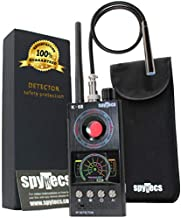 Radio Frequency RF Detector, Hidden Camera Detector, Bud Detector. Anti Spy Detector Finds Hidden Cameras, Listening Bugs, GPS Trackers Using Radio Frequency RF Signals. Slim Faraday Bag incl.