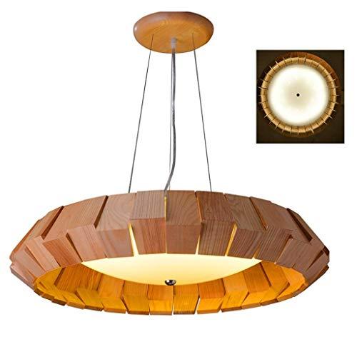 Hanglamp E27 hanglamp woonkamer eetkamer eettafel keuken eiland slaapkamer loft club bar hanglamp hout lampenkap anker in hoogte verstelbare kroonluchter, B, S