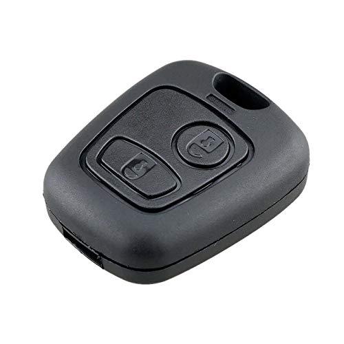 Ellenne - Carcasa para Llave con Mando a Distancia para Citroën C1, C2, C3, Xsara, Toyota, Aygo, Peugeot, CITR-15