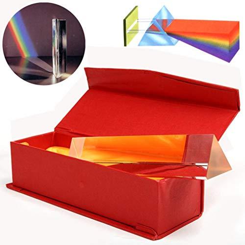 Yongse 6 inch optische glas driehoekige prisma in doos natuurkunde onderwijs licht Spectrum