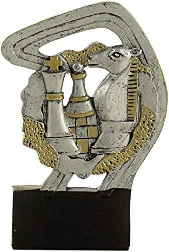 Art-Trophies AT814854 Trofeo Deportivo, Plateado, 12 cm