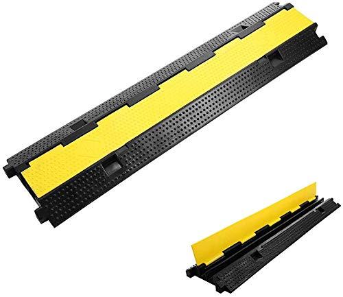 ybaymy ケーブルプロテクター ケーブル保護スロット 2スロット 配線カバー 床面用 コードプロテクター 収納力良い ケーブルカバー 管理チャネルシステム 耐摩耗 電線安全装置 (100x25x5cm)