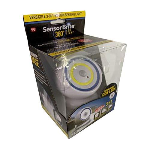 センサーブライト360 人感センサー 室内 室外 LED16個搭載 180ルーメン 防塵 防水 マグネット付 360度回転 卓上ライト 防犯ライト 懐中電灯