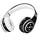 Bluetooth Headphones for Kids, 85db Volume Limited, up to 6-8 Hours Play, Stereo Sound, SD Card Slot, Over-Ear and Build-in Mic Wireless/Wired Headphones for Boys Girls(Black) (Renewed)