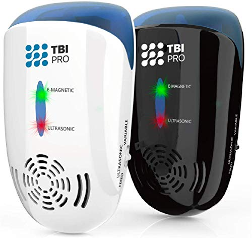 TBI Pro Ultrasonic Pest Repeller Wall Plug-in - Electromagnetic & Ionic Indoor Repellent Anti Mouse,...
