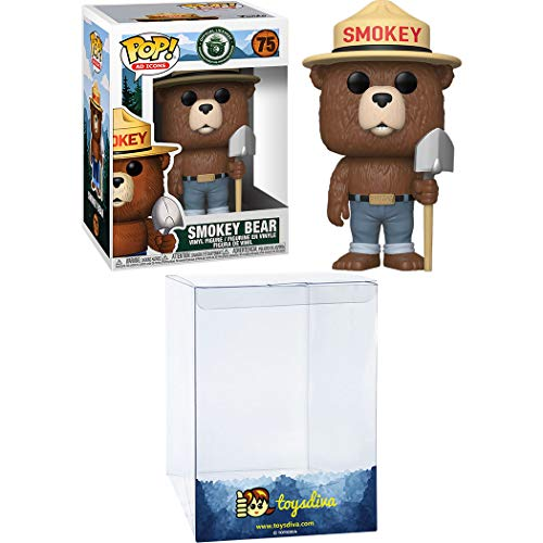 Smokey Bear: Funko Pop! Ad Icons Vinyl Figure Bundle with 1 Compatible 'ToysDiva' Graphic Protector (075 - 41726 - B)