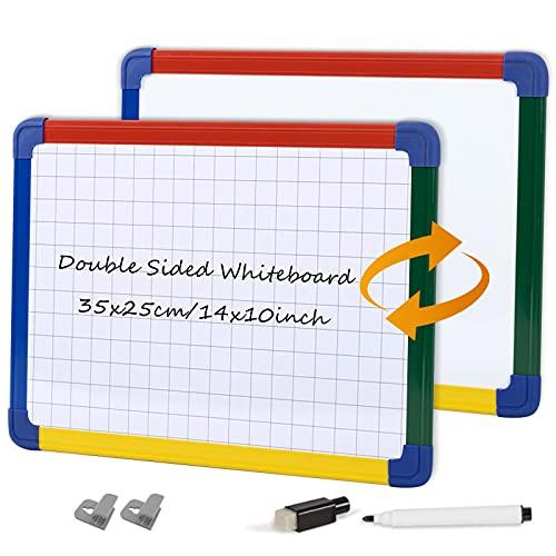 SwanSea Tableros blancos pequeños de la rejilla del planificador semanal del PDA de Whiteboard magnético para el Ministerio del Interior, 35x25cm