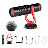 SAMTIAN Video Microphone, Camera Microphone, External Microphones, Recording Microphone for Vloging YouTube INS