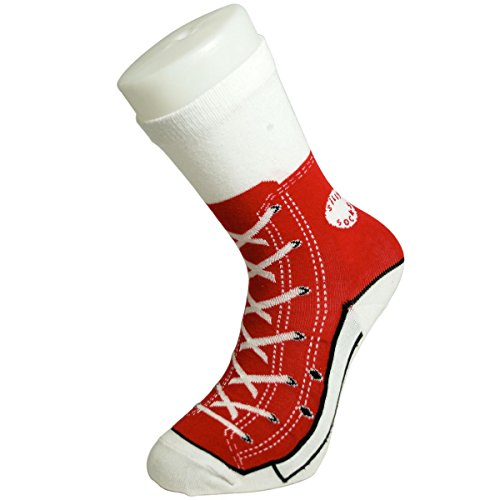 BluwDamen Socken Rot