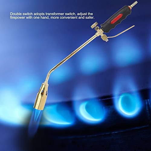 Antorcha de encendido con gatillo de alta intensidad, antorcha de gas duradera con bolsa de accesorios para gas licuado Gas natural para metano butano