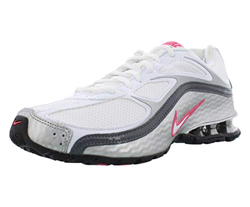 Nike Women's Reax Run 5 Running Shoes White/Metallic Silver/Dark Grey 8.5