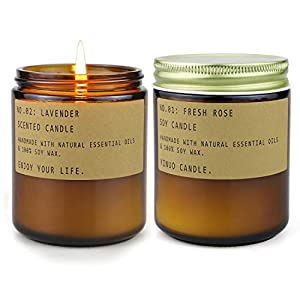 Scented Aromatherapy Candles for Home, Long Burning Jar Soy Candles, Organic Candles for Stress Relief Relaxation, Gifts…
